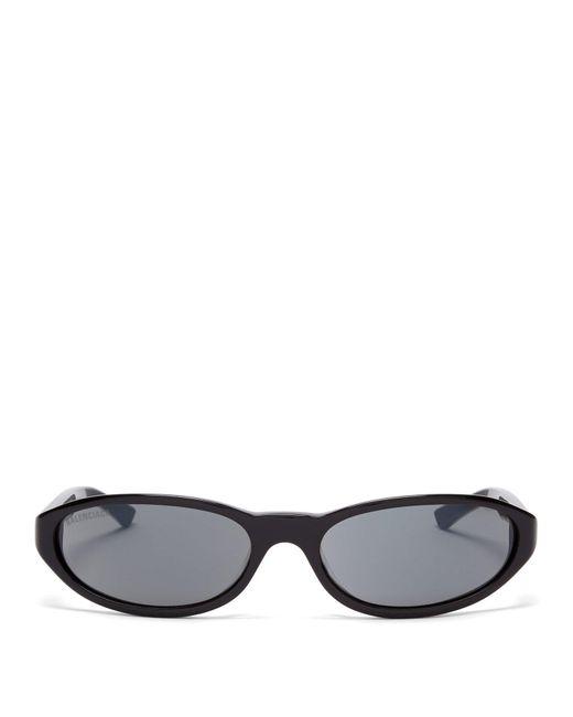ca6ef54867d Balenciaga - Black Neo Oval Frame Sunglasses for Men - Lyst ...