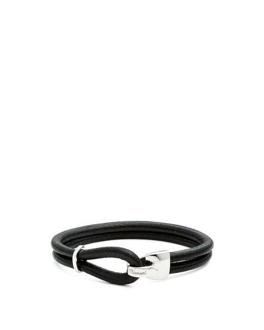 Miansai - Black Beacon Leather Wrap Bracelet for Men - Lyst
