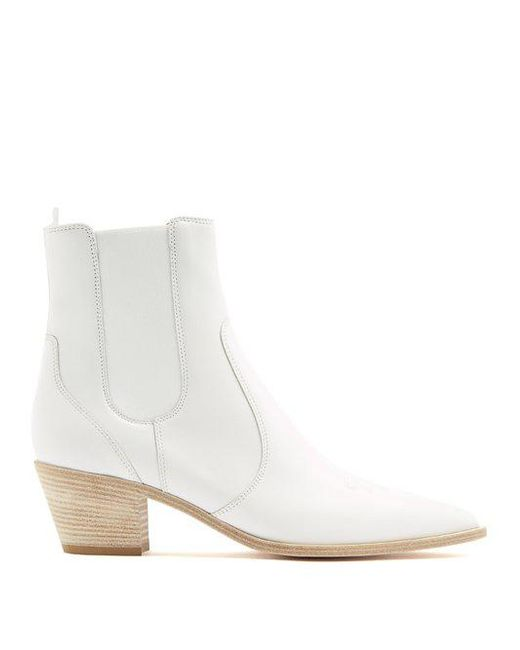 Austin 45 Leather Chelsea Boots - White Gianvito Rossi