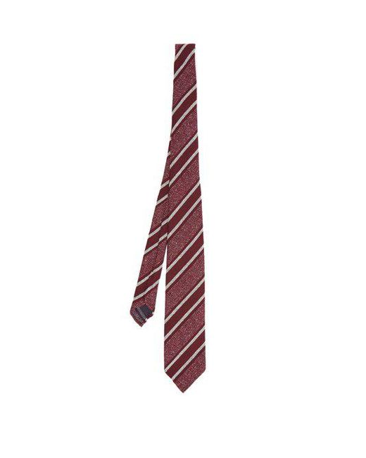 Dunhill - Purple Striped Silk-blend Tie for Men - Lyst