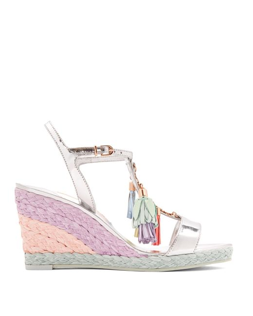 Sophia Webster | Multicolor Lucita Tassel Leather Wedge Sandals | Lyst