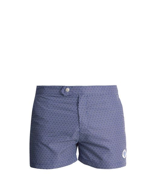 Robinson Les Bains - Blue Ucla Geometric-print Swim Shorts for Men - Lyst