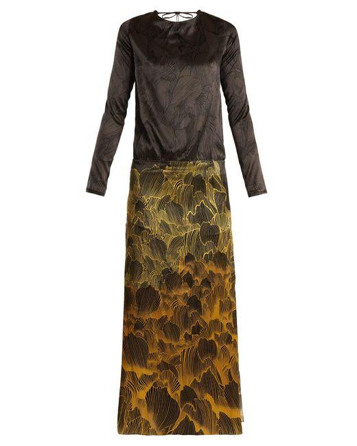 Adriana Iglesias - Multicolor Mermaid Soho Floral-print Stretch-silk Gown - Lyst
