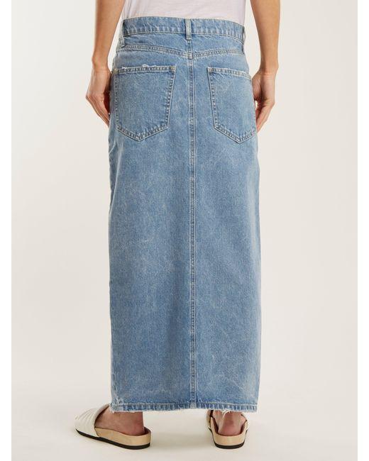 379880b71 ... Raey - Blue Slit Front Denim Maxi Pencil Skirt - Lyst ...