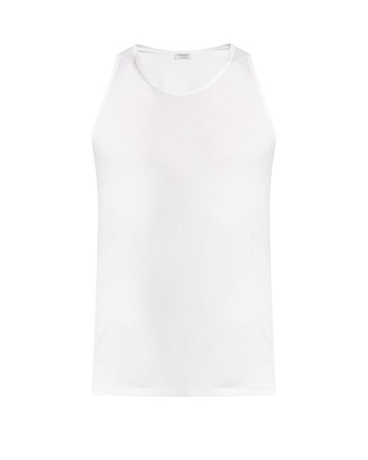 Zimmerli - White Pure Comfort Stretch-cotton Vest for Men - Lyst