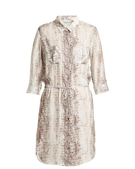 Heidi Klein - Multicolor Saint Barths Printed Poplin Shirt Dress - Lyst