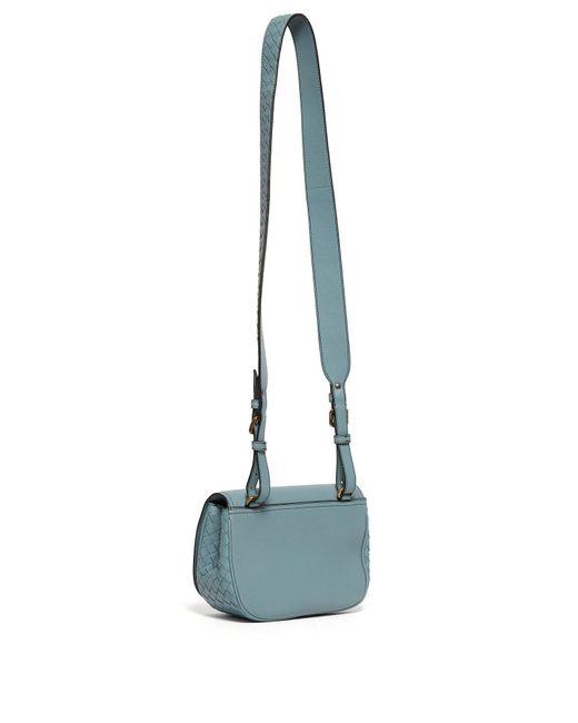 537406e3b6c1 ... Bottega Veneta - Blue Bv Luna Leather Cross Body Bag - Lyst ...