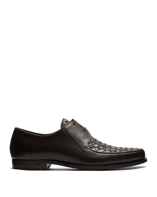 Intrecciato-woven leather derby shoes Bottega Veneta PZb0q9Zn7A