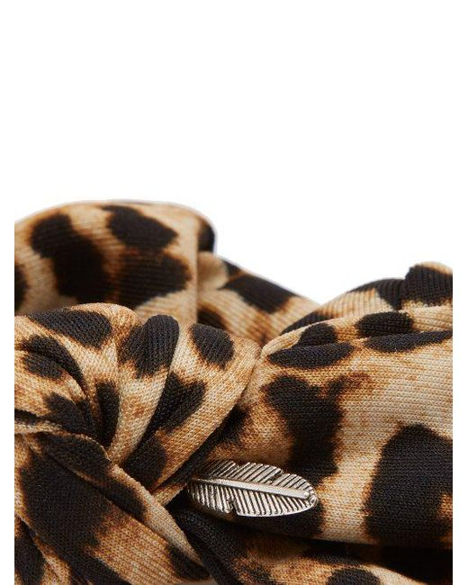 Leopard-print silk bow scrunchie House of Lafayette SVQ6GI