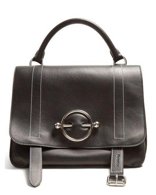 02c7af6d40 J.W. Anderson - Black Disc Leather Cross-body Bag for Men - Lyst ...