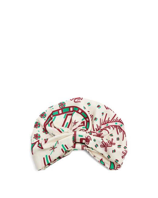 Valentino - Multicolor Abstract Print Silk Twill Turban Hat - Lyst