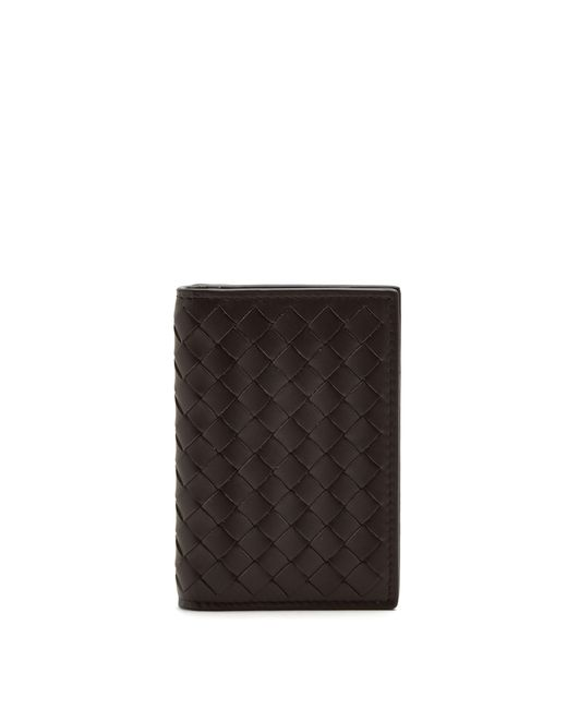 Bottega Veneta - Brown Porte-cartes en cuir intrecciato for Men - Lyst