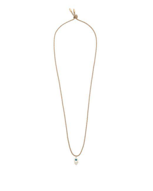 Luis Morais - Brown Hamsa Pendant-necklace for Men - Lyst