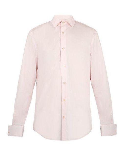 Paul Smith - Pink Double-cuff Cotton-poplin Shirt for Men - Lyst