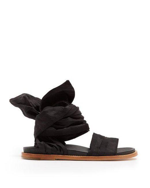Checked-jacquard wrap sandals Marques Almeida mEaI3j9F