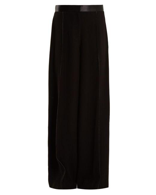 Elizabeth and James | Black Yuli High-rise Wide-leg Stretch-crepe Trousers | Lyst