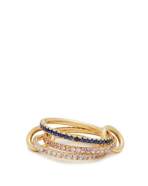 Spinelli Kilcollin - Blue Aurora Sapphire, Tanzanite & Yellow-gold Ring - Lyst