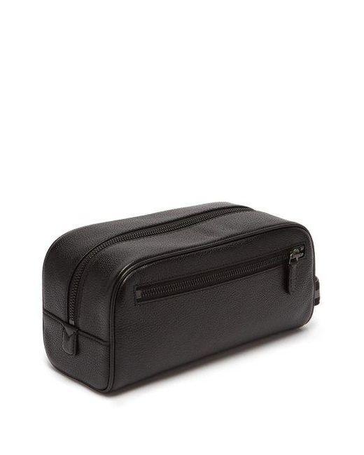 a8d7c8932c ... Polo Ralph Lauren - - Grained Leather Washbag - Mens - Black for Men -  Lyst ...