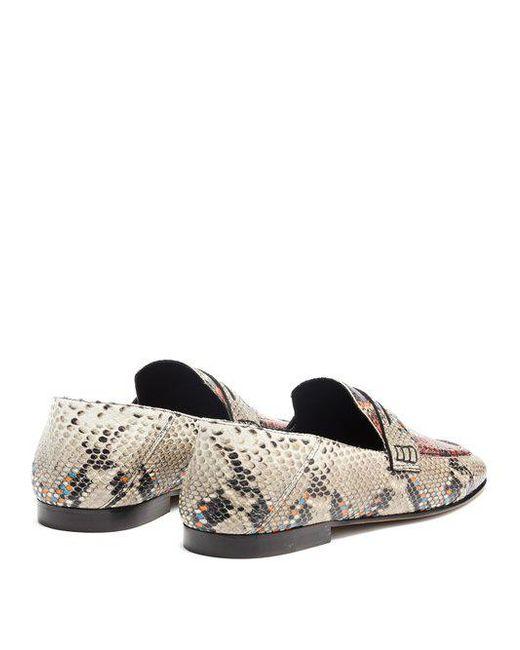 Fezzy collapsible-heel python-effect loafers Isabel Marant nGU6vJwD4