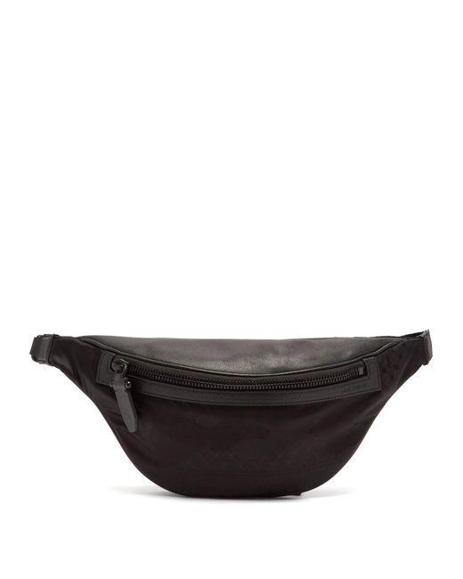 Neil Barrett - Black Leather-trimmed Nylon Belt Bag for Men - Lyst