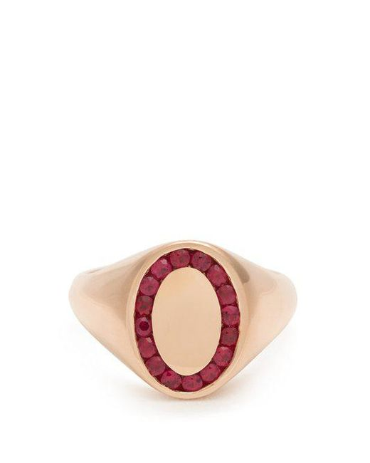 Jessica Biales - Red Ruby & Pink-gold Ring - Lyst