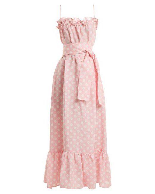 3d5da59dae Lisa Marie Fernandez - Pink Liz Linen Maxi Dress - Lyst ...