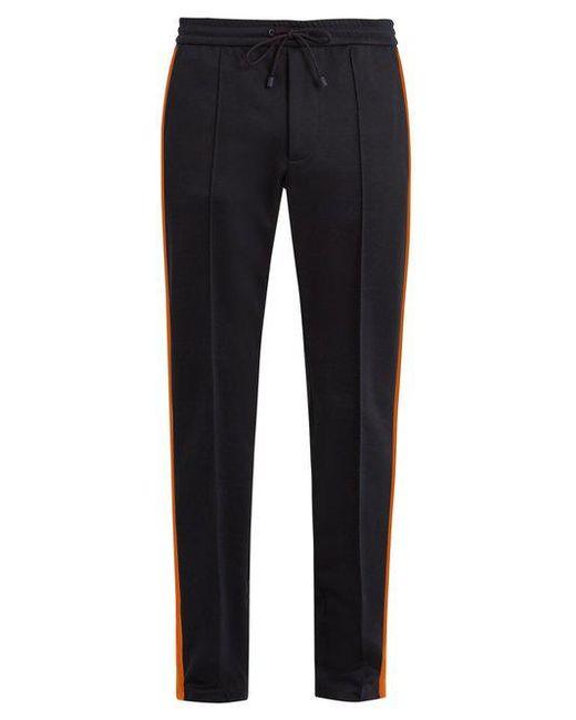 Valentino - Blue Side-stripe Slim-leg Cady Track Pants for Men - Lyst ...