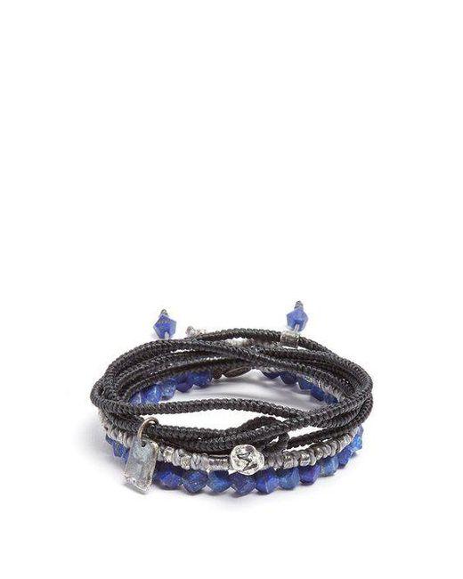 M. Cohen - Multicolor Set Of Three Lapis And Silver Bracelets for Men - Lyst