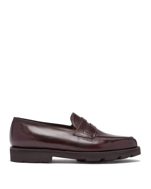 John Lobb - Brown Lopez Penny Strap Leather Loafers for Men - Lyst