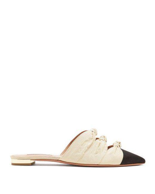 Aquazzura Knot front slippers