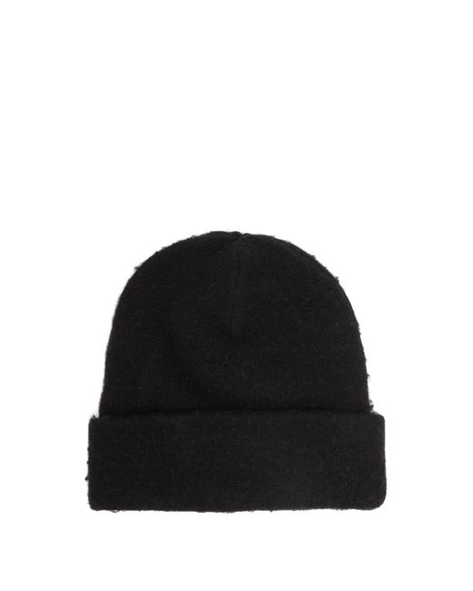 0f271f84626 Acne Studios Pilled Wool Blend Beanie Hat in Black for Men - Lyst