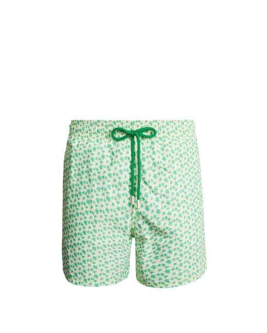 Vilebrequin - Green Moorea Micro Turtles Hawaï-print Swim Shorts for Men - Lyst