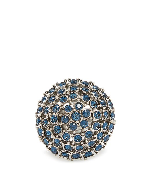 Oscar de la Renta | Blue Crystal-embellished Dome Ring | Lyst
