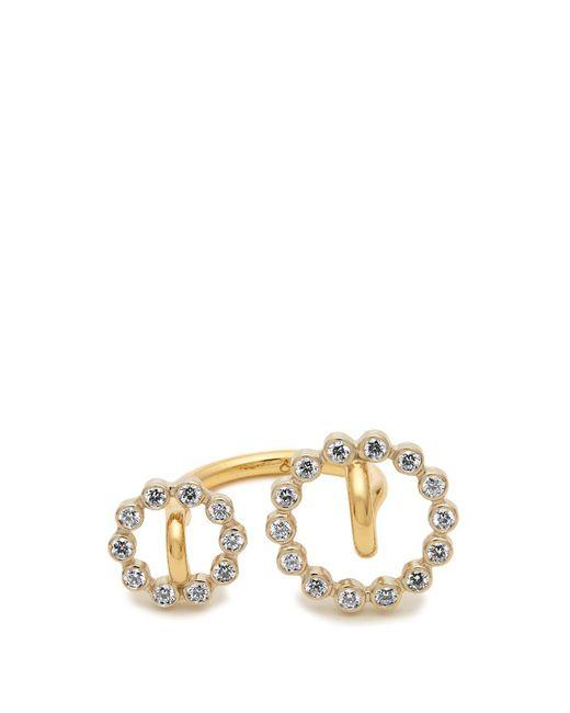 Charlotte Chesnais - Metallic System Diamond & Yellow Gold Ring - Lyst