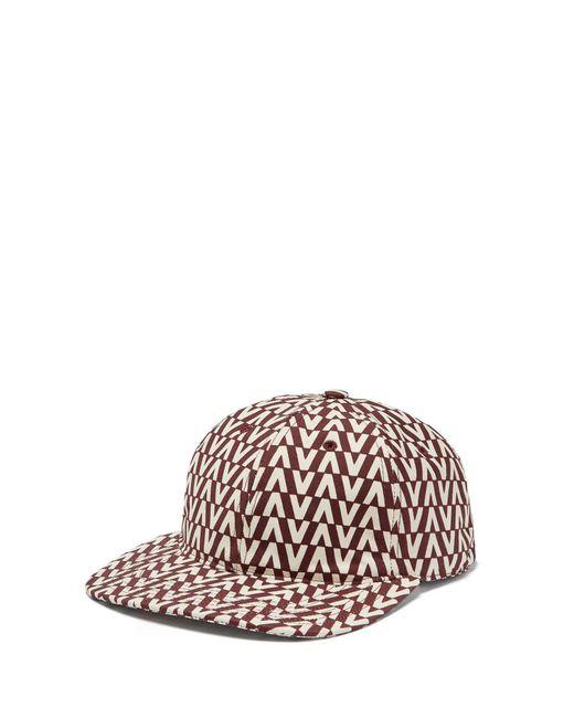 Valentino - Multicolor Optical Print Cotton Cap for Men - Lyst