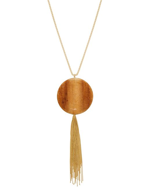 Rosantica By Michela Panero - Metallic Bamboo Pendant Tasselled Necklace - Lyst