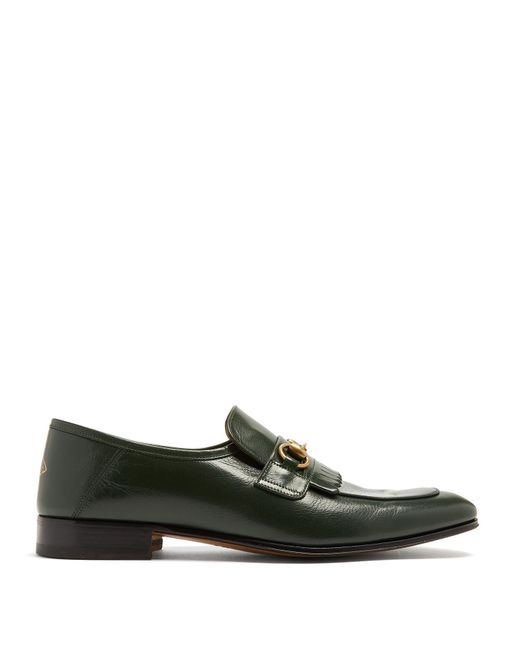Gucci - Green Harbor Leather Loafers for Men - Lyst