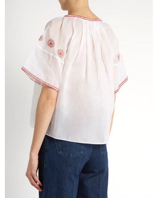 Sazerac embroidered cotton-organdy top Jupe by Jackie Sale Best Seller Sale Amazing Price New Lower Prices Pay With Visa Sale Online Discount Visit New eda8B