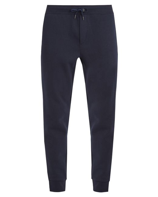 Polo Ralph Lauren | Blue Logo-embroidered Jersey Track Pants for Men | Lyst