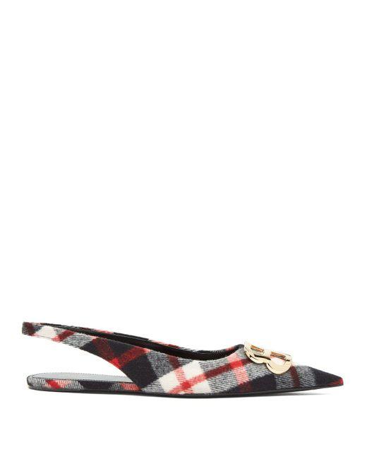 Balenciaga - Multicolor Checked Tartan Flats - Lyst