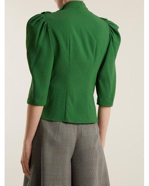 High-neck ruffle-trimmed blouse Vika Gazinskaya View For Sale Official Site A5SoQ1Dj1