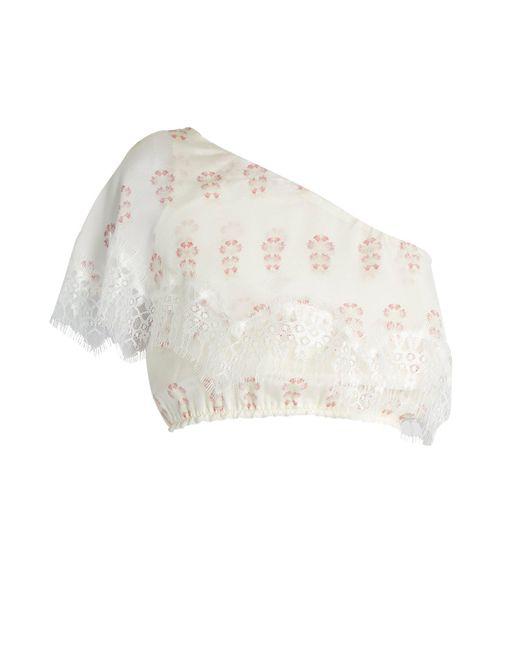 Athena Procopiou - White Summer Morning Silk Top - Lyst