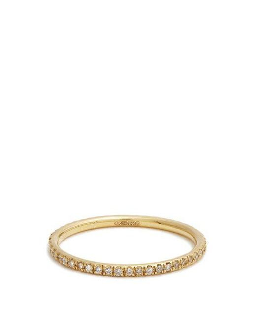 Ileana Makri - Metallic Diamond & Yellow-gold Ring - Lyst