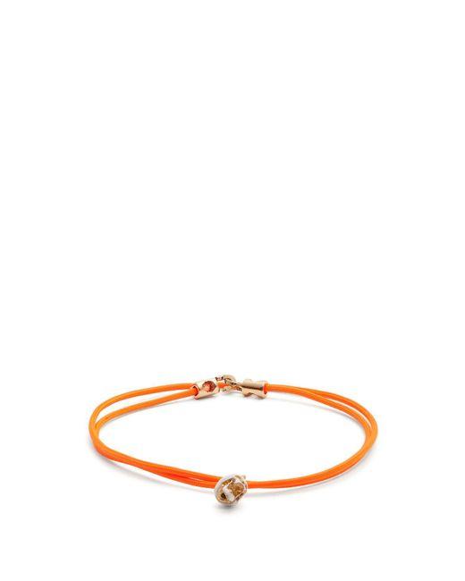 Luis Morais - Orange Double Wrap Skull Bracelet for Men - Lyst