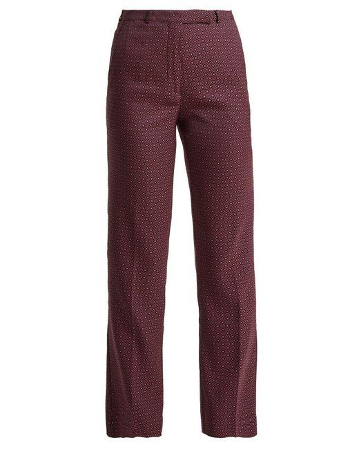 Etro - Multicolor Violante Straight Leg Jacquard Trousers - Lyst