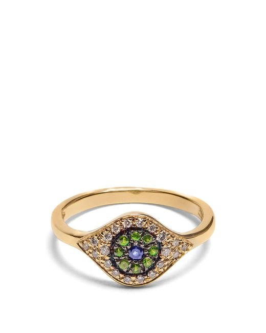 Ileana Makri - Metallic Diamond, Sapphire, Tsavorite & Yellow-gold Ring - Lyst