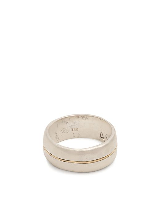 Aris Schwabe - Metallic Silver N' Gold Sterling Silver Ring for Men - Lyst