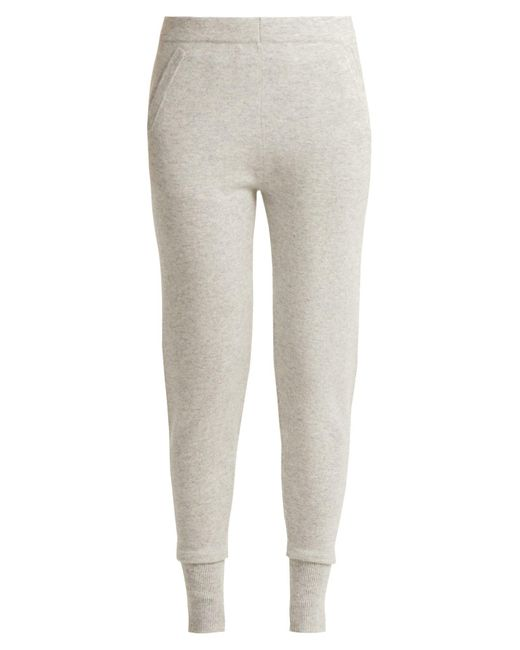 Allude - Gray Cashmere Leggings - Lyst