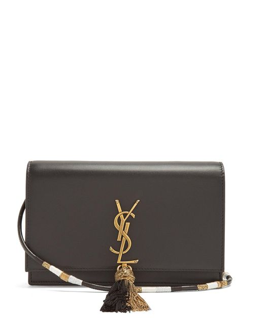 Saint Laurent - Black Kate Small Leather Cross Body Bag - Lyst