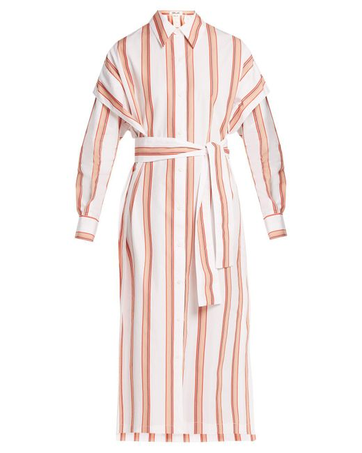 Diane von Furstenberg - Multicolor Striped Cotton Shirtdress - Lyst
